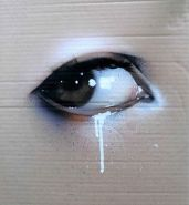 eye on cardboard