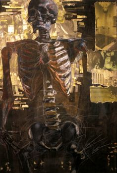 mixed media skeleton