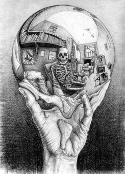 skeleton reflection
