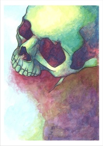 skeleton skull color