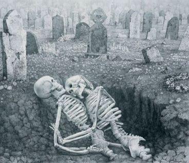 skeletons in the grave