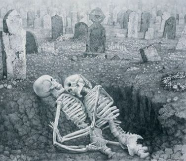 skeletons in the grave