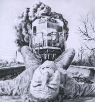 on train tracks