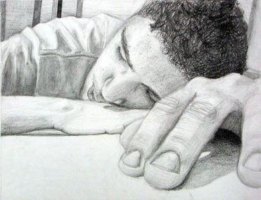 sleeping on desk