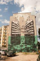 above and below street art