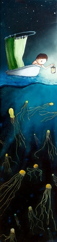 above the jelly fish