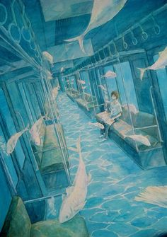 inside the subway under the sea