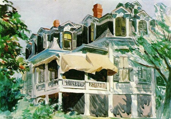 mansard-roof edward hopper 1923