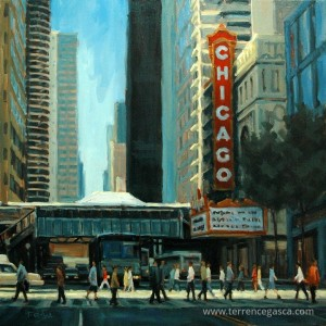 terrence gasca crossing chicago oils 24 x 24