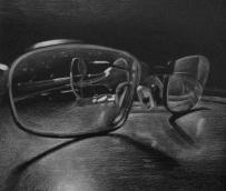 through the glasses