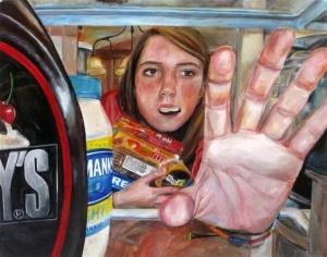within the fridge