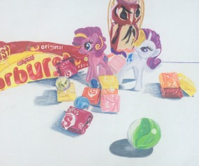 Genesis Rivas, Pony Candy Land, 2015. Color pencil, 13.5″x15.5″