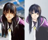 asian girl in uniform