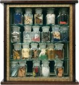 boxed sculpture collection in jars