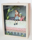 boxed sculpture princess and the pea