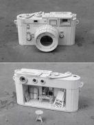 camera boxed sculpture