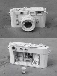 camera boxed sculpture