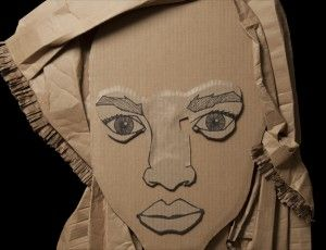 cardboard-face-2 The Elements Of Art Form Examples on shape form, texture drawing, principles design,