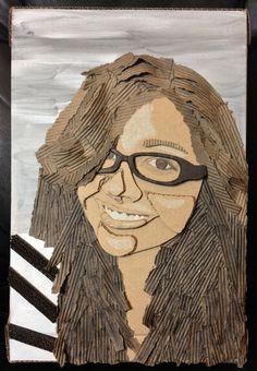 cardboard face 3