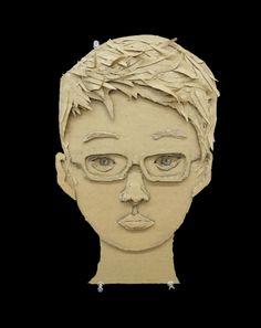 cardboard face 6