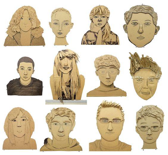 cardboard faces