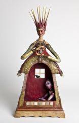 figurative sculpture with empty cavity