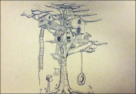 tree house 2 point perspective