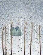 tree house among the birch