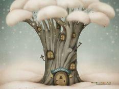 tree house of snow