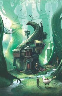 tree house of swirling vines