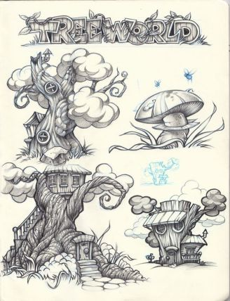 tree house sketches