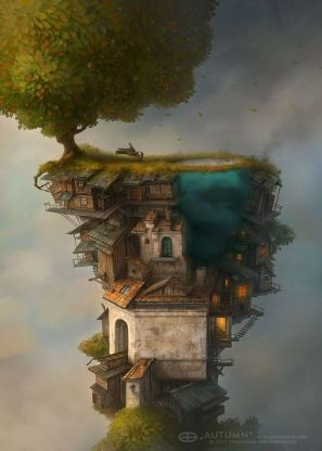 tree house with iceberg
