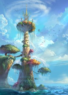 tree house with ivory tower