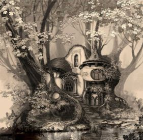 tree house with organic curves