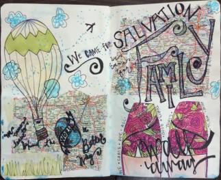 "Lauren V Allen ""Walk In My Shoes"", Mixed Media and Collage, 2011."