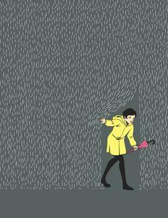 girl in rain