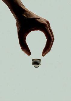 hand and lightbulb