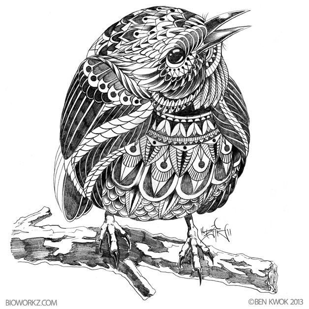 Sketchbook No1 Zentangle Animal Ellers Artists