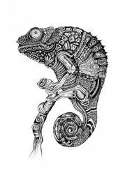 zentangle chameleon
