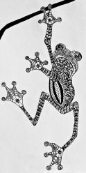 zentangle frog