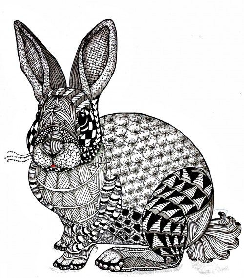 Sketchbook No.1: Zentangle Animal | Eller's Artists