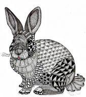 zentangle rabbit