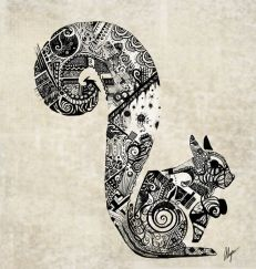 zentangle squirrel