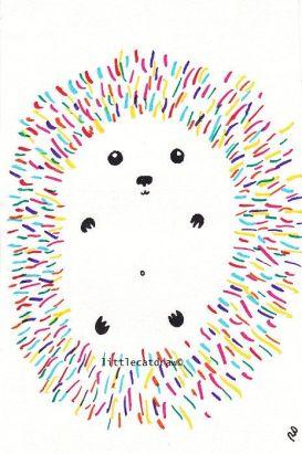 colorful hedgehog