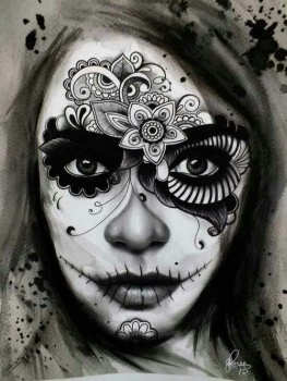 day of the dead asymmetrical