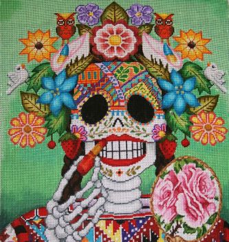 day of the dead tapestry