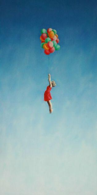 girl and balloons