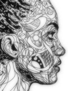 profile face pattern