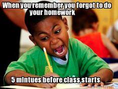 homework meme 3