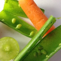 peas + carrot with grape